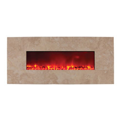 Built-In Electric Fireplace, Stone Series