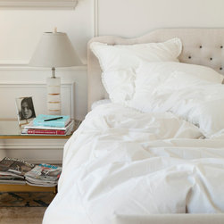 Classic White Bedding - Crisp, clean and never out of style, the Classic White Duvet suggests an air of pure tranquility. Choose from either a sweet ruffle or tailored flange trim to get that perfect, unfussy look. Sometimes there's nothing better than the beauty of simplicity.