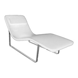 "Lemoderno - Fine Mod Imports  Longa Chaise, Black, White, 29.5""h X 23.6""w X 64.1""d - Tailored to perfection the Longa Chaise is shaped to naturally fit your bodies curves in a most comfortably relaxing position."