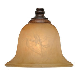 Golden Lighting - Alante Antique Marbled Glass Shade - Bulb not included. Neckless. 7.5 in. Dia. x 4.75 in. H. Warranty