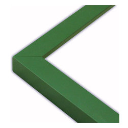 The Frame Guys - Narrow Flat Green Picture Frame-Solid Wood, 12x18 - *Narrow Flat Green Picture Frame-Solid Wood, 12x18