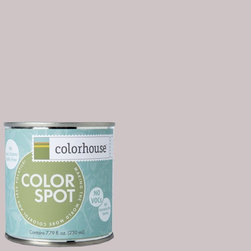 ColorSpot Eggshell Interior Paint Sample, Air .07,  8-oz - Test color before you paint with the Colorhouse Colorspot 8-oz  paint sample. Made with real paint and in our most popular eggshell finish, Colorhouse paints are 100% acrylic with NO VOCs (volatile organic compounds), NO toxic fumes/HAPs-free, NO reproductive toxins, and NO chemical solvents. Our artist-crafted colors are designed to be easy backdrops for living.
