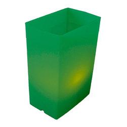 FLIC Luminaries, LLC - Green FLIC Luminaries, Set of 36, Electric C7 Light Strings - 36 Green FLIC Luminaries with Electric C7 Light Strings.