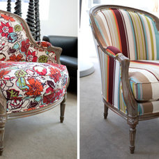 """These chairs take the """"country"""" out of French country 