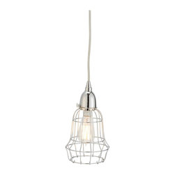 Lazy Susan - Lazy Susan Silver Wire Barrel Pendant Light X-040522 - Made from nickel-plated iron