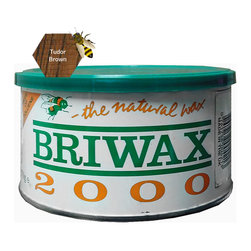 """Briwax international - Briwax Toulene Free 16oz (available in 7 colors), Tudor Brown, 16 Oz - Briwax is a solvent based blend of beeswax and carnauba wax for use on bare wood or previously sealed surface. Can also be used as a maintenance wax. Briwax has long been recognized by furniture restoration professionals as a premiere, multi-purpose furniture wax. It produces a lustrous patina, not a glossy surface shine. It is suitable for use as a finish on new wood or stripped furniture, a reconditioner for old or damaged finishes, a furniture wax for fine furniture and antiques or an antiquing agent where the desire is to """"age"""" a newly painted carving or project."""