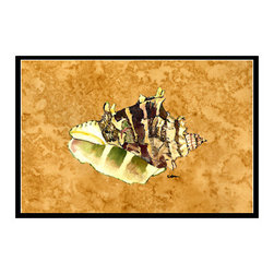 Caroline's Treasures - Shell Indoor Or Outdoor Mat 24X36 8658 Doormat - Indoor / Outdoor Mat 24x36 - 24 inches by 36 inches. Permanently dyed and fade resistant. Great for the front door or the back door.  Use this mat inside or outside.    Use a garden hose or power washer to chase the dirt off of the mat.  Do not scrub with a brush.  Use the Vacuum on floor setting.  Made in the USA.  Clean stain with a cleaner that does not produce suds.