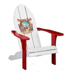 Panama Jack Chairman Adirondack Chair with Red Finish