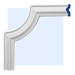 "Inviting Home - Staten Molding Corner II - Staten molding corner II 17-3/4""H x 17-3/4""W x 1-1/8""P This panel molding corner is made from high density polyurethane. The front surface of this panel molding corner has extra durable and smooth and is pre-primed with water-based white paint. POlyurethane is lightweight durable and easy to install using common woodworking tools. Metal dies were used for consistent quality and perfect part to part match for hassle free installation. This corner has sharp deep and highly defined design. This corner can be finished with any quality paints."