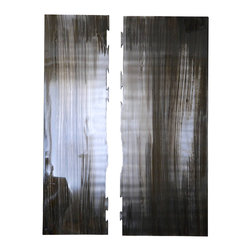 Jon Koehler Sculpture - Grains II - Stainless Steel with Acid Wash, 2014-GrainsI - These elegant wall art hang about 0.5 inches off the wall. This piece of art can be hung in any direction.  Add a nice touch to your decor with these pieces of art