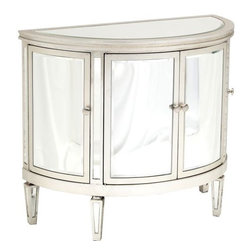 Demilune 4 Door Mirrored Chest - http://www.highfashionhome.com/demilune-4-door-mirrored-chest.html