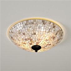 Flush-mount Ceiling Lighting Mother of Pearl Ceiling Light - Shades of Light