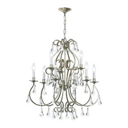 Crystorama - Crystorama Ashton Chandelier X-PWM-LC-SO-9105 - Grace never goes out of style. Ashton is a collection designed for today, tomorrow and everyday. It takes the notion of crystal chandeliers beyond traditional. Features modern hand-painted finishes, graceful lines and updated crystal shape.