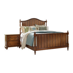 Broyhill - Broyhill Hayden Place Panel Bed 3 Piece Bedroom Set in Oak - Broyhill - Bedroom Sets - 46453PcPanelBedSet - Broyhill Hayden Place 5 Drawer Chest in Warm Golden Oak (included quantity: 1) About This Product:�