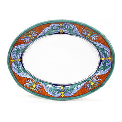 Artistica - Hand Made in Italy - Royale: Oval Platter (1429/42-2196) - Royale Deruta Dinnerware collection: