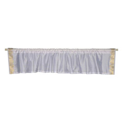 Indian Selections - Pair of White Gold Rod Pocket Top It Off Handmade Sari Valance, 80 X 15 In. - Size of each Valance: 80 Inches wide X 15 Inches drop. Sizing Note: The valance has a seam in the middle to allow for the wider length
