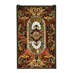 Meyda Tiffany - Meyda Tiffany REGAL Regal Splendor Window X-30187 - From the Regal Splendor Collection, this beautiful Meyda Tiffany window will dazzle and delight thanks to its vivid coloring and blend of classic European charm and old world influencing. Subtle botanical details dance within the curves and lines of this design, while pops of color draw the eye in, adding to its appeal.