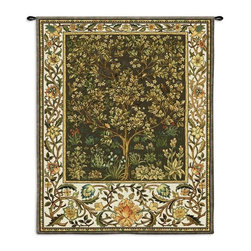 Home Decorators Collection - Tree of Life II Tapestry - Inspired by a 19th Century wall hanging first woven by William Morris, the Tree of Life Tapestry depicts flowers and foliage in a striking design. This home accent is woven with luxurious chenille for a soft look and feel. Don't wait; add it to your home decor now.Jacquard woven with the latest computer-based loom, giving the highest image resolution available.Heirloom-quality tapestries last a lifetime. Tapestry rod and hanging hardware not included.