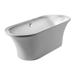 "Whitehaus - Freestanding Soaker Tub - Whitehaus WHBL175BATH 68"" Bathhaus Oval Freestanding Lucite Acrylic Tub White"