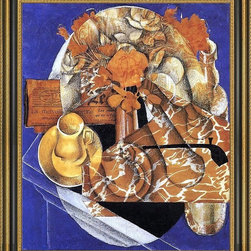 """Art MegaMart - Juan Gris Flowers - 16"""" x 20"""" Framed Premium Canvas Print - 16"""" x 20"""" Juan Gris Flowers framed premium canvas print reproduced to meet museum quality standards. Our Museum quality canvas prints are produced using high-precision print technology for a more accurate reproduction printed on high quality canvas with fade-resistant, archival inks. Our progressive business model allows us to offer works of art to you at the best wholesale pricing, significantly less than art gallery prices, affordable to all. This artwork is hand stretched onto wooden stretcher bars, then mounted into our 3 3/4"""" wide gold finish frame with black panel by one of our expert framers. Our framed canvas print comes with hardware, ready to hang on your wall.  We present a comprehensive collection of exceptional canvas art reproductions by Juan Gris."""