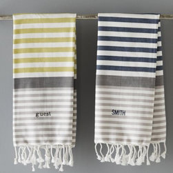 Variegated Stripe Tassel Hand Towel - I love the colorway that these hand towels come in. They would look great in a powder bath or kitchen.