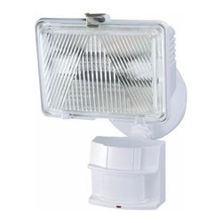 Heath Zenith - Flood Lights. 180-Degree Outdoor Motion-Sensing Security Light - Shop for Lighting & Fans at The Home Depot. The Heath Zenith 180-Degree Outdoor Motion-Sensing Security Light has an adjustable swivel arm to allow directional lighting, a hinged cover for easy bulb replacement and a white weather-resistant finish. It features adjustable motion sensitivity up to 70 ft. and offers two brightness settings for energy efficiency. It casts a powerful 250-watt brightness at full power and is ideal for backyards, driveways and parking lots.