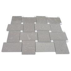 Arbor Lady Gray With Crystal White Dot Marble tile- shop glass tiles at glasstil