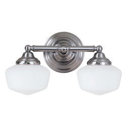 Sea Gull Lighting - Sea Gull Lighting 44437BLE Academy 2 Light Energy Star Bathroom Vanity Light - Features: