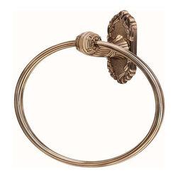 Alno Inc. - Alno Creations Ribbon & Reed Towel Ring Antique English A8540-Ae - Alno Creations Ribbon & Reed Towel Ring Antique English A8540-Ae