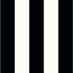 Wallpaper Worldwide - Deluxe - Bold Stripes Wallpaper, Black, White - Material: Non-woven. Velvet.