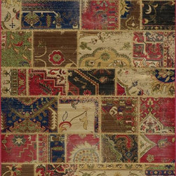 "Momeni - Contemporary Vintage 9'10""x12'6"" Rectangle Multi Color Area Rug - The Vintage area rug Collection offers an affordable assortment of Contemporary stylings. Vintage features a blend of natural Multi Color color. Machine Made of 100% New Zealand Wool the Vintage Collection is an intriguing compliment to any decor."