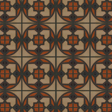 eclectic floor tiles by Metolius Ridge Tile, Inc