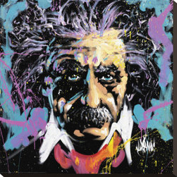 Artcom - Einstein by David Garibaldi - Einstein by David Garibaldi is a Stretched Canvas Print.