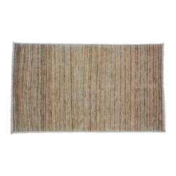 Gabbeh Peshawar Rug, 4'X7' Hand Knotted 100% Wool Colorful Striped Rug SH8152 - Our Modern & Contemporary Rug Collections are directly imported out of India & China.  The designs range from, solid, striped, geometric, modern, and abstract.  The color schemes range from very soft to very vibrant.