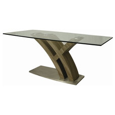 Contemporary Dining Tables Pastel Furniture Quanto Basta 71x38 Rectangular Table w/ Glass Top