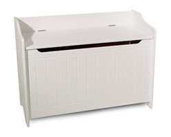 Catskill Craftsmen - Storage Chest Bench w White Finish & Flip Top - Wainscoted design elements and a warm, Mission inspired style makes this storage bench a versatile addition to any room of your home. Perfect for winter boots and scarves in an entry or for toys in a child's room, the unit features a child safety hinge and is finished in white. Assembly tool included. Made of MDF lacquered wood. Constructed with warp-resistant materials. Wainscoted front. Finger slot under lid. Child safety hinge. Overall: 14 in. L x 32.75 in. W x 24 in. H (41 lbs.). Interior: 11 in. L x 31.5 in. W x 17 in. H