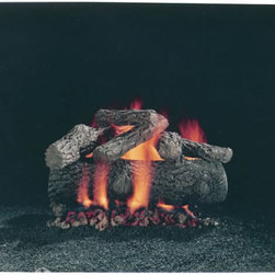 "HARGROVE MANUFACTURING - 24"" Hargrove Premium Fire Oak, Vented, gas Logs Only - 24"" Hargrove Premium Fire Oak, Vented,gas Logs Only, Radco Approved, Fits Fireplaces Of Minimum 16""h X 28""w X 14""d"