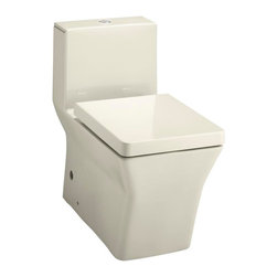 KOHLER - KOHLER K-3797-47 Reve Comfort Height one-piece elongated 0.8 or 1.6 GPF rim toil - KOHLER K-3797-47 Reve Comfort Height  one-piece elongated 0.8 or 1.6 GPF rim toilet with dual flush technology in Almond