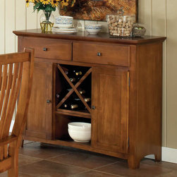 """Steve Silver - Tulsa Server - The Tulsa Server is the perfect compliment to the dining table and chairs.;Features: Multi-Step Rich Cherry Finish;Cottage Style;Corner Blocked Construction;Tongue and Groove Joints;Weight: 153.5 lbs.;Dimensions: 48""""L x 18""""W x 40""""H"""