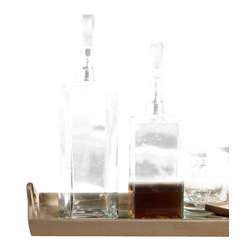 Zodax - Square Glass Decanter with Glass Stopper - Tall by Zodax - Square Glass Decanter with Glass Stopper - Tall by Zodax