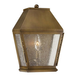 Savoy House - Savoy House Bath Outdoor Wall Mount Light Fixture in Burnished Copper - Shown in picture: Maple is a classic exterior lantern with clean lines and timeless appeal. This collection features a Burnished Copper finish and lightly seeded Glass - adding exceptional warmth and beauty to your home.
