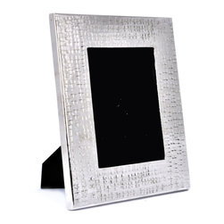"Concepts Life - Concepts Life Photo Frame  Hammered Metal  Solstice Collection  11"" - Add a modern feel to your photographs with our hammered metal photo frame. Elegant, textured and with just the right amount of masculinity for any contemporary space.  Hammered metal frame Modern home accent Beautiful lines with an understated glossy finish Comes in alternative size (sold seperately) Easel back for horizontal and vertical display Dimensions: 9""l x .5""d x 11""h Wipe clean Imported"