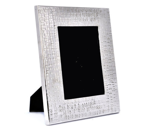 """Concepts Life - Concepts Life Photo Frame  Hammered Metal  Solstice Collection  11"""" - Add a modern feel to your photographs with our hammered metal photo frame. Elegant, textured and with just the right amount of masculinity for any contemporary space.  Hammered metal frame Modern home accent Beautiful lines with an understated glossy finish Comes in alternative size (sold seperately) Easel back for horizontal and vertical display Dimensions: 9""""l x .5""""d x 11""""h Wipe clean Imported"""