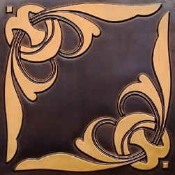 """Decorative Ceiling Tiles - Haute Couture - Faux Tin Ceiling Tile - 24""""x24"""" - #216 - Find copper, tin, aluminum and more styles of real metal ceiling tiles at affordable prices . We carry a huge selection and are always adding new style to our inventory."""