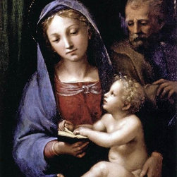 """Giovan Francesco Penni The Holy Family of the Book - 16"""" x 24"""" Premium Archival - 16"""" x 24"""" Giovan Francesco Penni The Holy Family of the Book premium archival print reproduced to meet museum quality standards. Our museum quality archival prints are produced using high-precision print technology for a more accurate reproduction printed on high quality, heavyweight matte presentation paper with fade-resistant, archival inks. Our progressive business model allows us to offer works of art to you at the best wholesale pricing, significantly less than art gallery prices, affordable to all. This line of artwork is produced with extra white border space (if you choose to have it framed, for your framer to work with to frame properly or utilize a larger mat and/or frame).  We present a comprehensive collection of exceptional art reproductions byGiovan Francesco Penni."""