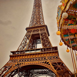 Eiffel Tower Carousel-Paris France, Fine Art Photography Print, 8X12 - Eiffel Tower Carousel.