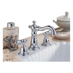 Delta Faucet Company - Delta Victorian Two Handle Widespread Lavatory Faucet, Chrome (3555LF-216) - Delta 3555LF-216 Victorian Two Handle Widespread Lavatory Faucet, Chrome