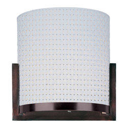 ET2 - ET2 E95088-100 2 Light Wall Sconce Elements Collection - Contemporary / Modern 2 Light Wall Sconce from the Elements CollectionThe Elements Collection offers the freedom of choice in lighting design. Start with the style selection: pendant, mini pendant, or wall sconce; then choose the right shape, square or circular, for the space. Wrap the lamp in one of four fabrics that will make just the right statement: Grass Cloth, White Weave, White Pleat, or Crimson. Finally, choose the perfect light source for the task. Whether fluorescent, xenon, or incandescent, this collection brings together all the right elements.Features: