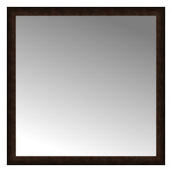 """Posters 2 Prints, LLC - 48"""" x 48"""" Dark Copper Custom Framed Mirror - 48"""" x 48"""" Custom Framed Mirror made by Posters 2 Prints. Standard glass with unrivaled selection of crafted mirror frames.  Protected with category II safety backing to keep glass fragments together should the mirror be accidentally broken.  Safe arrival guaranteed.  Made in the United States of America"""