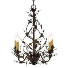 5-Light Hanging Tuscana Copper Chandelier-HB3431-240 at The Home Depot